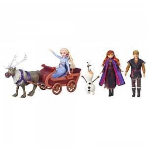 Disney Frozen 2 Sledding Adventures Doll Pack - Clearance Sale