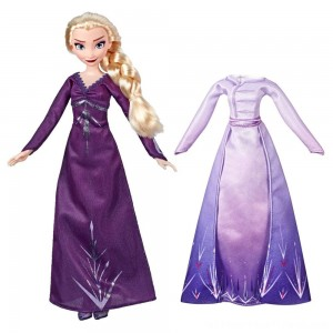 Disney Frozen 2 Arendelle Fashions Elsa Fashion Doll With 2 Outfits - Clearance Sale