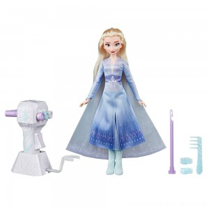 Disney Frozen 2 Sister Styles Elsa Fashion Doll With Extra-Long Blonde Hair, Braiding Tool and Hair Clips - Clearance Sale