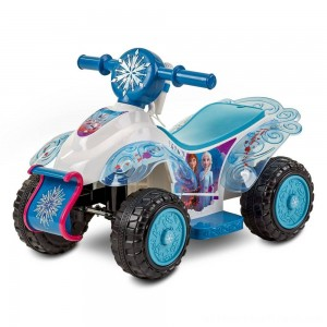 Frozen 2 Kid Trax Sing and Ride Toddler 6V Quad - White - Clearance Sale
