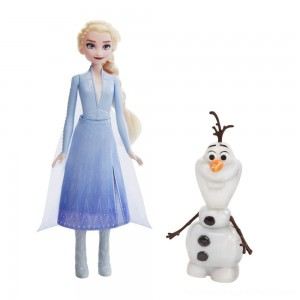 Disney Frozen 2 Talk and Glow Olaf and Elsa Dolls - Clearance Sale