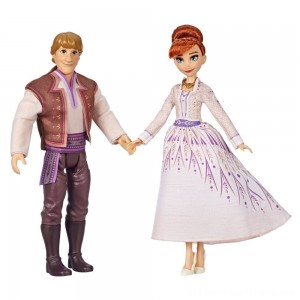 Disney Frozen 2 Anna and Kristoff Fashion Dolls 2pk - Clearance Sale