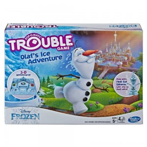 Trouble Disney Frozen Olaf's Ice Adventure Game - Clearance Sale