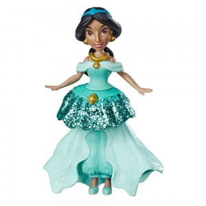 Disney Princess Jasmine Doll with Royal Clips Fashion, One-Clip Skirt - Clearance Sale