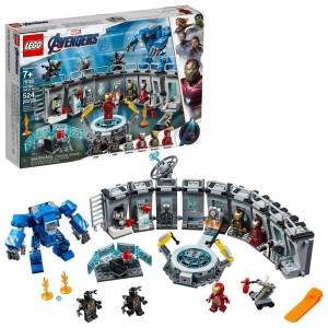 LEGO Marvel Avengers Iron Man Hall of Armor Superhero Mech Model with Tony Stark Action Figure 76125 - Clearance Sale