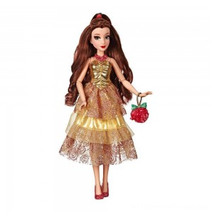 Disney Princess Style Series - Belle Doll in Contemporary Style with Purse & Shoes - Clearance Sale