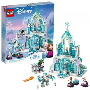 LEGO Disney Princess Elsa's Magical Ice Palace 43172 Toy Castle Building Kit with Mini Dolls - Clearance Sale