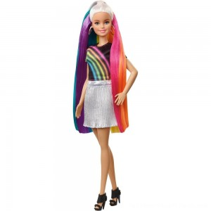Barbie Rainbow Sparkle Hair Barbie Doll - Clearance Sale