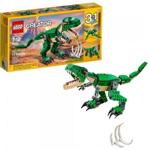 LEGO Creator Mighty Dinosaurs 31058 Build It Yourself Dinosaur Set, Pterodactyl, Triceratops, T Rex Toy - Clearance Sale