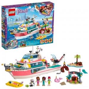 LEGO Friends Rescue Mission Boat 41381 Building Kit Sea Creatures for Creative Play 908pc - Clearance Sale