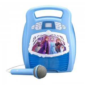 Disney Frozen 2 MP3 Karaoke Light Show with Microphone - Clearance Sale