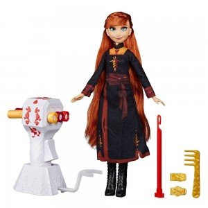 Disney Frozen 2 Sister Styles Anna Fashion Doll With Extra-Long Red Hair, Braiding Tool and Hair Clips - Clearance Sale