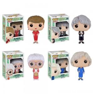 Funko Golden Girls: POP! TV Collectors Set; Sophia, Rose, Blanche, Dorothy - Clearance Sale