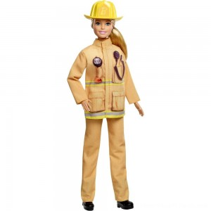 Barbie Careers 60th Anniversary Firefighter Doll - Clearance Sale
