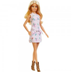 Barbie Fashionistas Doll #119 Pink Shirt Dress - Clearance Sale