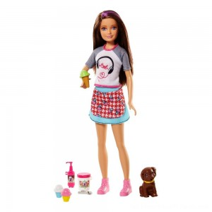 Barbie Sisters Skipper Doll and Ice Cream Accessory Set - Clearance Sale