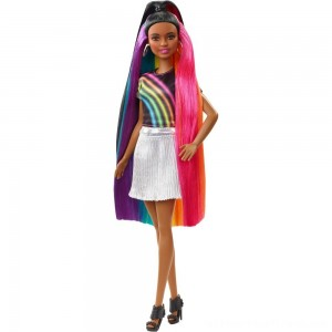 Barbie Rainbow Sparkle Hair Nikki Doll - Clearance Sale