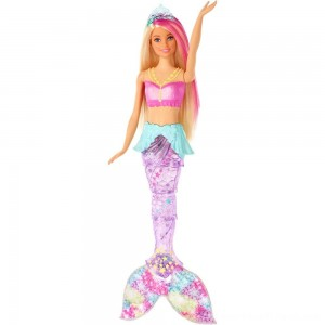 Barbie Dreamtopia Sparkle Lights Mermaid - Clearance Sale