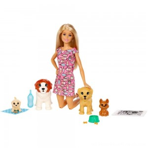 Barbie Doggy Daycare Doll & Pets - Clearance Sale