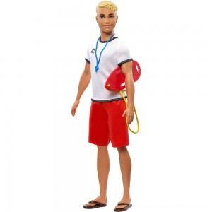 Barbie Ken Career Lifeguard Doll - Clearance Sale