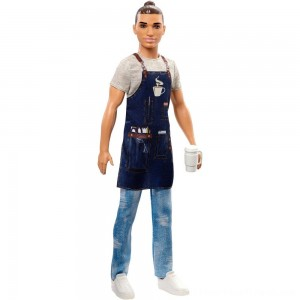 Barbie Ken Career Barista Doll - Clearance Sale