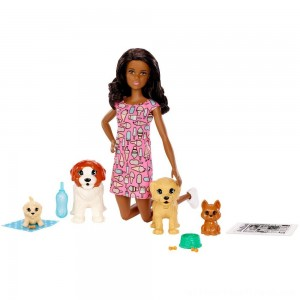 Barbie Doggy Daycare Nikki Doll & Pet - Clearance Sale