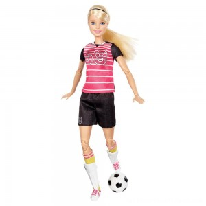 Barbie Made To Move Soccer Player Doll - Clearance Sale