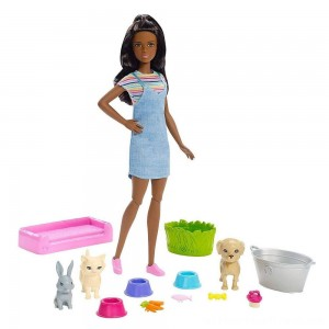 Barbie Play 'n' Wash Pets Nikki Doll and Playset - Clearance Sale