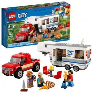 LEGO City Great Vehicles Pickup & Caravan 60182 - Clearance Sale
