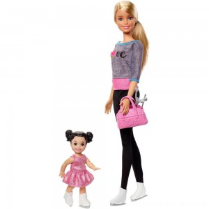 Barbie Ice-skating Coach Dolls & Playset - Clearance Sale