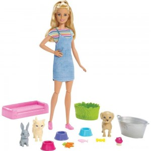 Barbie Play 'n' Wash Pets Doll and Playset - Clearance Sale