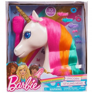 Barbie Dreamtopia Unicorn Styling Head 10pcs - Clearance Sale
