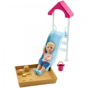Barbie Skipper Babysitters Inc. Friend Doll and Playground Playset - Clearance Sale