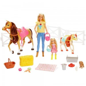 Barbie Hugs 'N' Horses Playset - Clearance Sale
