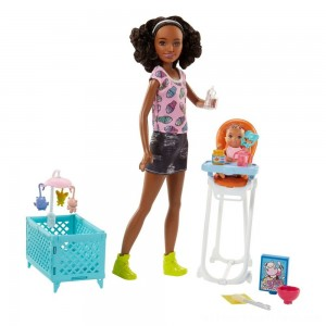 Barbie Skipper Babysitters Inc. Doll and Feeding Playset - Brunette - Clearance Sale