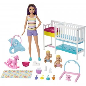 Barbie Skipper Babysitters Inc Nap 'n' Nurture Nursery Dolls and Playset - Clearance Sale