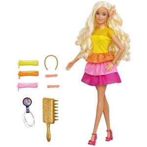Barbie Ultimate Curls Doll and Playset - Clearance Sale