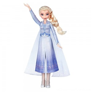 Disney Frozen 2 Singing Elsa Fashion Doll with Music - Blue - Clearance Sale