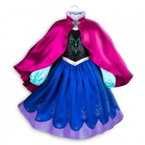 Disney Frozen 2 Anna Kids' Dress - Size 7-8 - Disney store, Girl's, Blue - Clearance Sale