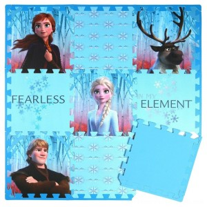 Disney Frozen 2 9pc Tile Foam Interlocking Fitness Mats - Clearance Sale