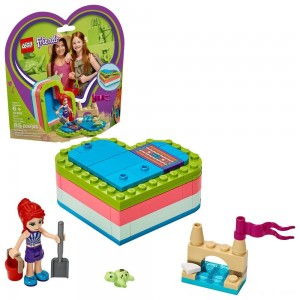 LEGO Friends Mia's Summer Heart Box 41388 Building Kit with Turtle Figure and Mia Mini Doll 85pc - Clearance Sale