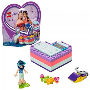 LEGO Friends Emma's Summer Heart Box 41385 Building Kit with Toy Scooter and Mini Doll 83pc - Clearance Sale