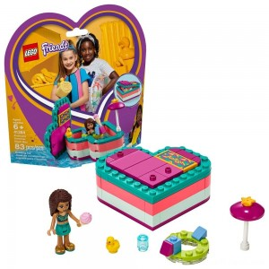 LEGO Friends Andrea's Summer Heart Box 41384 Heart Box Building Set with Andrea Mini Doll Playset 83pc - Clearance Sale