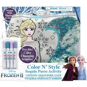 Disney Frozen 2 Color and Style Sequin Purse Activity Set - Clearance Sale