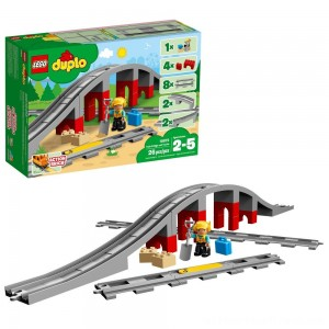 LEGO DUPLO Town Train Bridge and Tracks 10872 - Clearance Sale