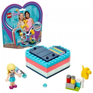 LEGO Friends Stephanie's Summer Heart Box 41386 Portable Toy Building Set, Stephanie Mini Doll 95pc - Clearance Sale