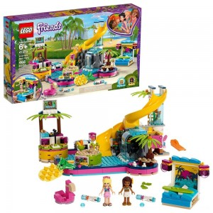 LEGO Friends Andrea's Pool Party 41374 Toy Pool Building Set with Mini Dolls for Pretend Play - Clearance Sale