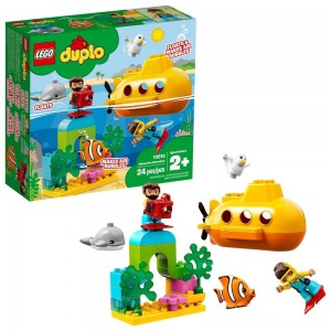 LEGO DUPLO Submarine Adventure 10910 Bath Toy Building Set for Toddlers with Toy Submarine 24pc - Clearance Sale