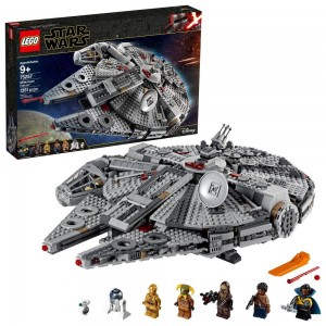 LEGO Star Wars: The Rise of Skywalker Millennium Falcon Building Kit Starship Model with Minifigures 75257 - Clearance Sale