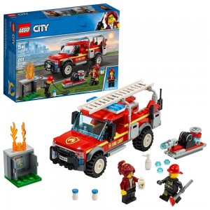 LEGO City Fire Chief Response Truck 60231 Building Set with Toy Firetruck and Ladder 201pc - Clearance Sale
